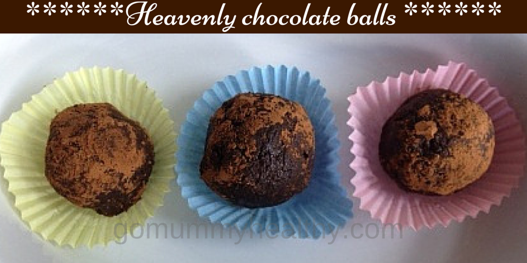 Heavenly chocolate balls - - perfect in weight loss