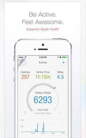 screenshot of Pacer app