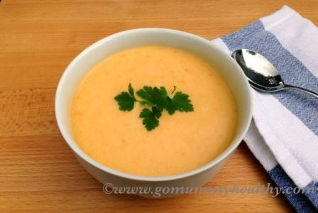 Red lentil and carrot soup - quick soups