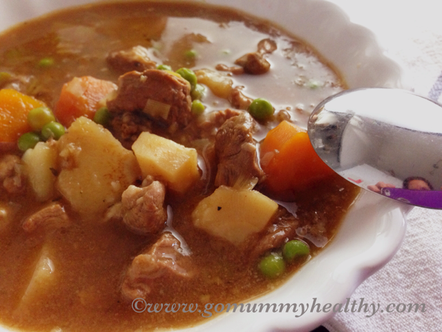 Slow cooker lamb stew - family recipe