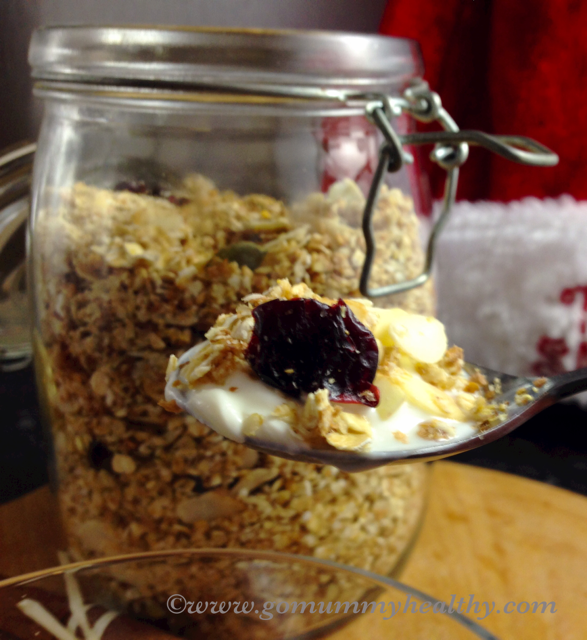 Toasted seeds muesli quick protein-rich breakfast