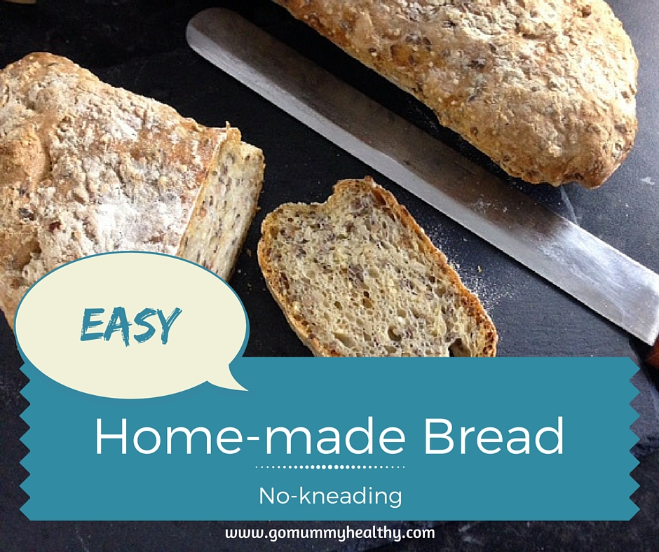 Easy no kneading home-made bread