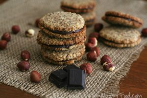 Chocolate Hazelnut Sandwich Cookies - Light make-ahead Christmas dessert