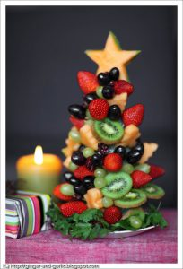fruit christmas tree -Light make-ahead Christmas dessert